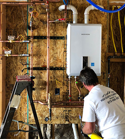 tankless water heaters installed -high country plumbing-windsor, co
