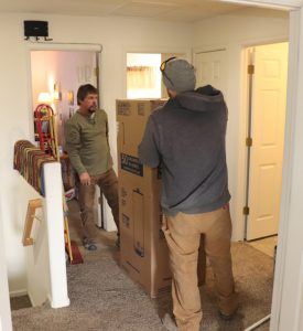 bringing in new water heater