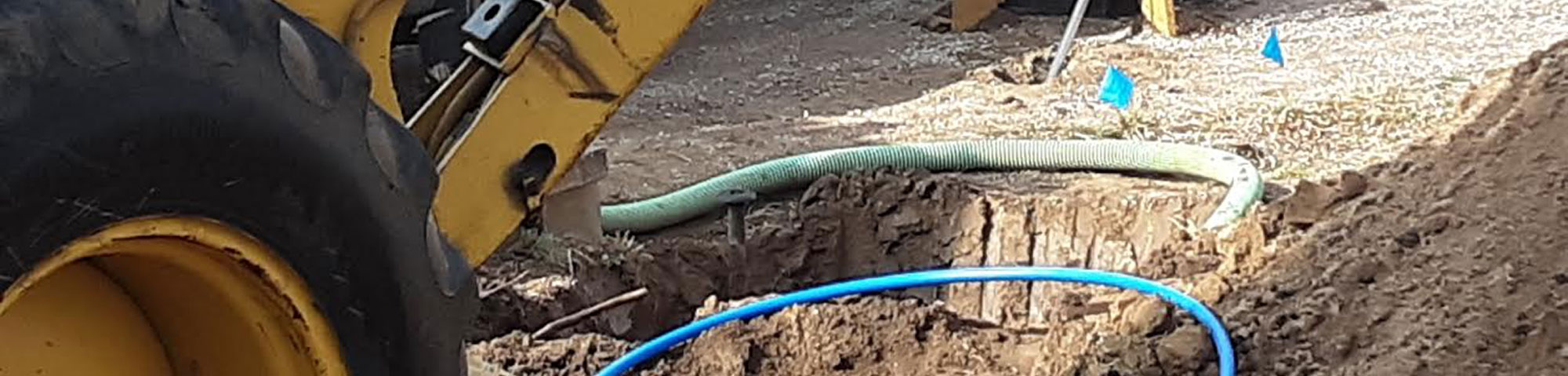 trenchless water line replacement hole